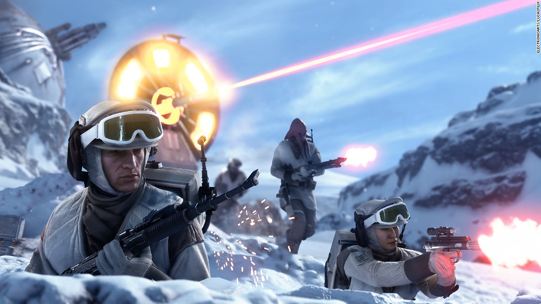 "Explore Hoth, Tattooine, or other ""Star Wars"" worlds in the new ""Star Wars Battlefront"" game. Now you can experience the rush of a looming AT-AT bearing down on your team of fighters. List price: $69.99."