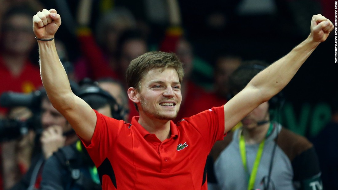 Goffin gave Belgium a 1-0 lead on Friday after he came from two sets down to beat competition debutant Kyle Edmund.