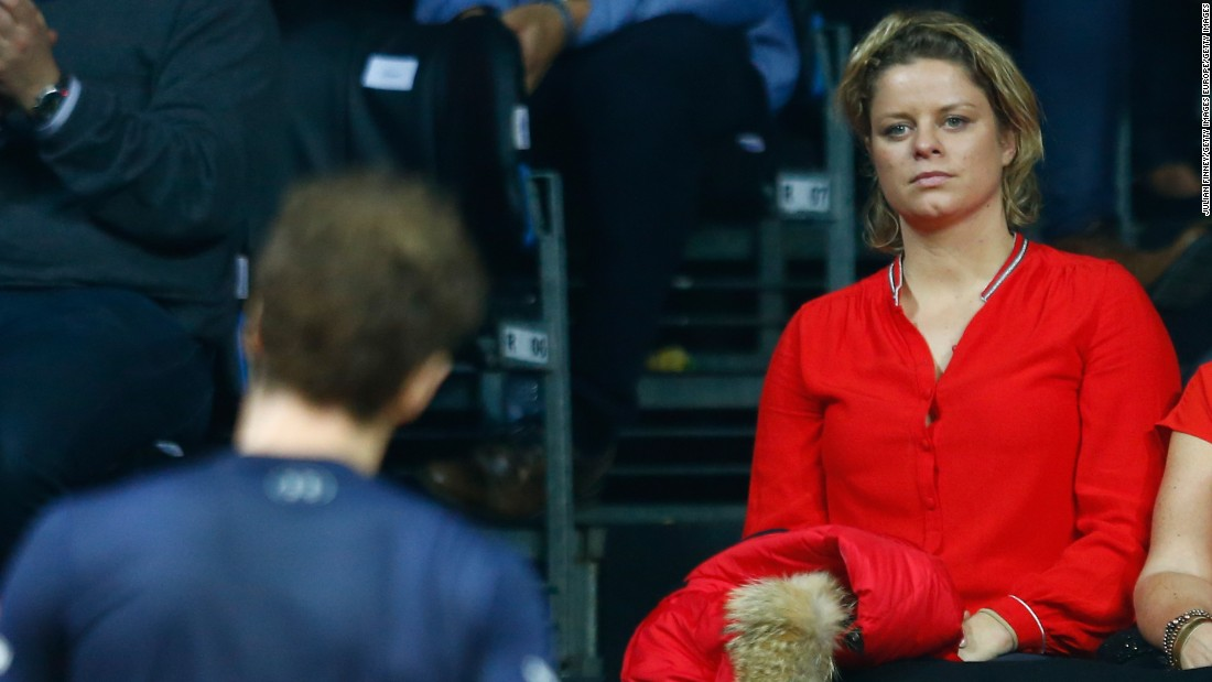 There was another familiar face in the crowd, in Belgium's four-time grand slam winner Kim Clijsters.