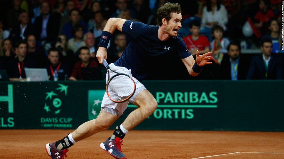 Andy Murray was Britain's No. 1 and he lived up to his ranking by fending off the 108th-ranked Ruben Bemelmans 6-3 6-2 7-5 to level the series.