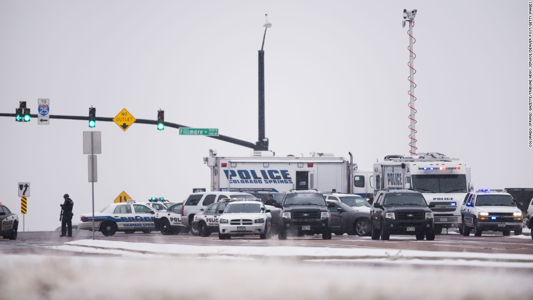 It was not immediately clear whether Planned Parenthood was the target of the shooting. Police. Photos: Shootout in Colorado Springs