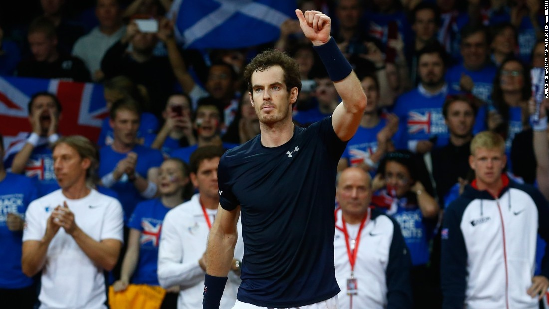 Murray improved to 9-0 in the Davis Cup this season, the key man in victories over the U.S., France and Australia.