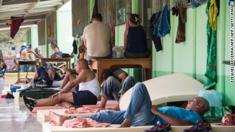 Cuban migrants wait at a shelter in Guanacaste province, Costa Rica, last month.