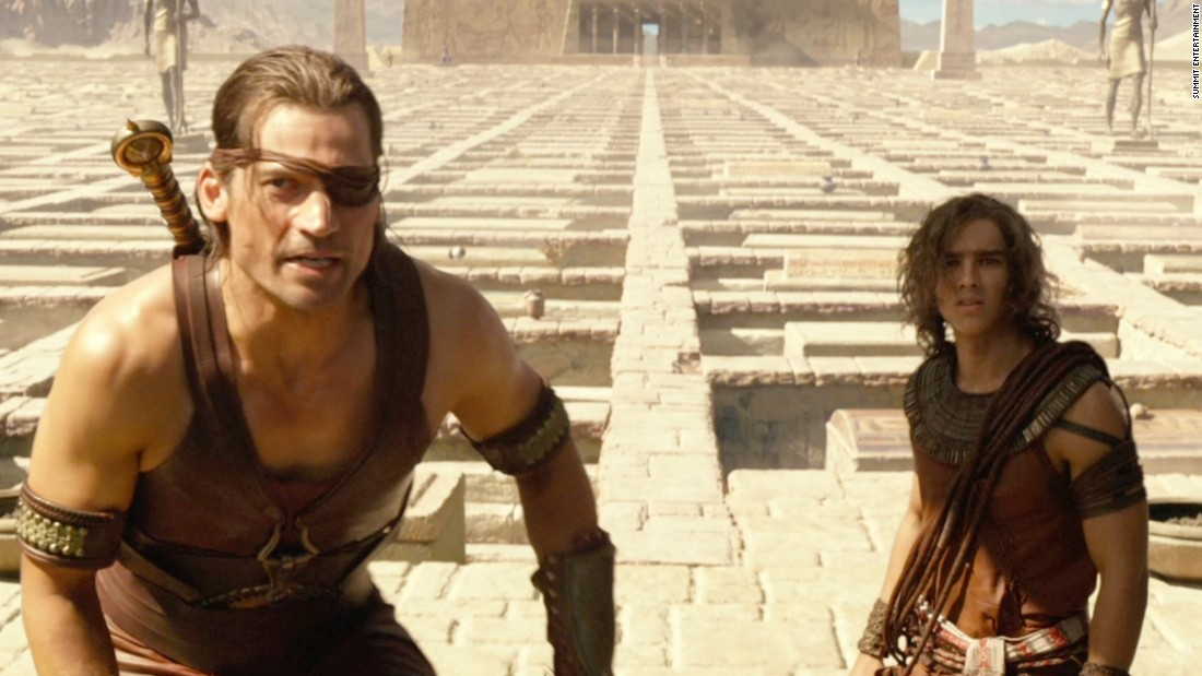 "The makers of 2016's ""Gods of Egypt"" came under fire for showcasing a mostly white cast that includes Danish actor Nikolaj Coster-Waldau, left, and Australian actor Brenton Thwaites alongside Scotsman Gerard Butler. Amid intense criticism, director Alex Proyas issued an apology, saying, ""it is clear that our casting choices should have been more diverse."""