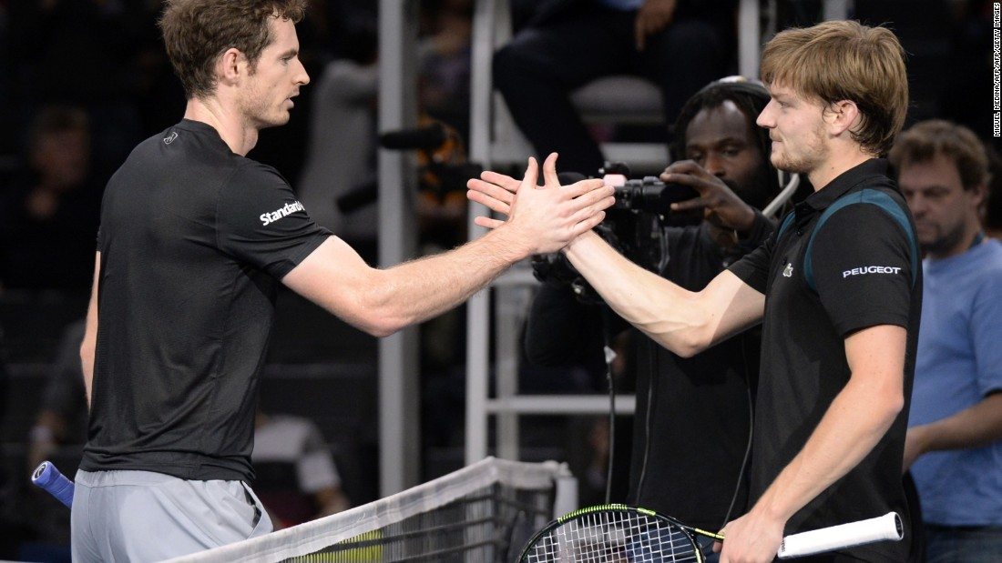 Murray was heavily favored to beat Goffin Sunday. When they played in Paris in early November, Murray lost one game.