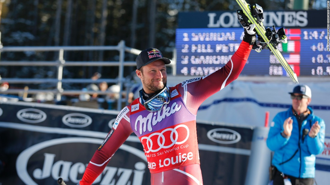 Aksel Lund Svindal is back -- tying the record for World Cup wins in one venue with back-to-back Lake Louise victories.