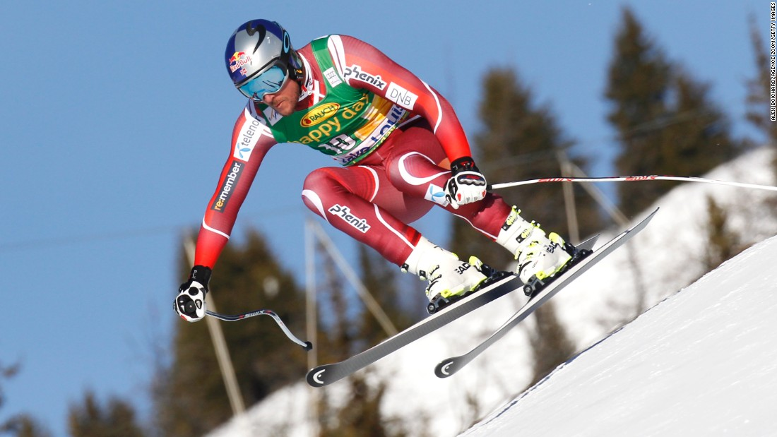 Svindal then took first place in the super-G at Lake Louise. The two victories tied skiing's record for the number of men's World Cup wins at the same venue -- the 33-year-old now has eight there.