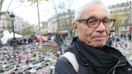"""The shoes are marching for us,"" said René Stroh of Paris."
