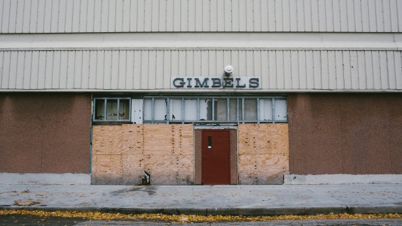 An abandoned department store is seen in the historically black Bronzeville neighborhood. Swaths of the former cultural and business hub succumbed to bulldozers nearly a half a century ago.