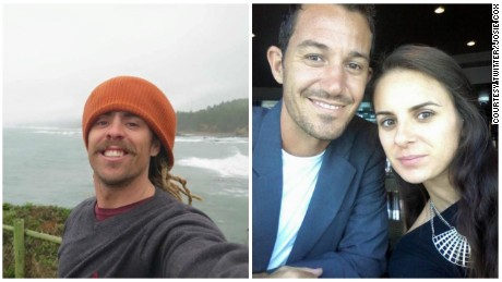 Two Australian surfers missing in Mexico: Adam Coleman and Dean Lucas (pictured with girlfriend Josie Cox).