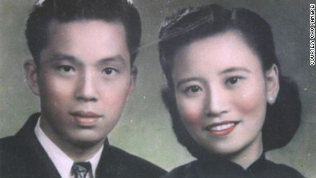 Cao Yuehua, left, and Wang Deyi as young lovers in China.