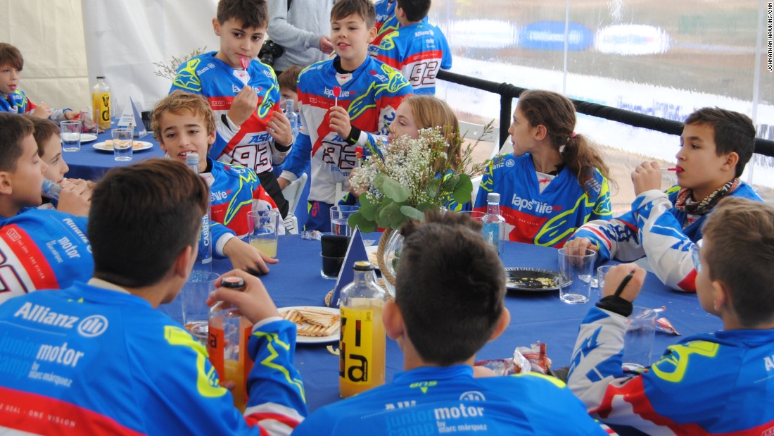 "Marquez says he likes being a role model for the youngsters. ""The way that you speak, the way that you ride the bike, the way you eat something, they are looking all the time,"" he explained. ""You must be right at these thing because you know what you will do they will copy."""