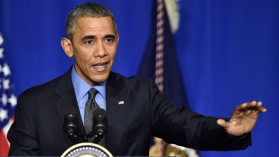 PARIS, FRANCE - DECEMBER 01: President of the United States of America, Barack Obama makes a speech during A Press Conference on December 1, 2015 in Paris, France.  (Photo by Pascal Le Segretain/Getty Images)