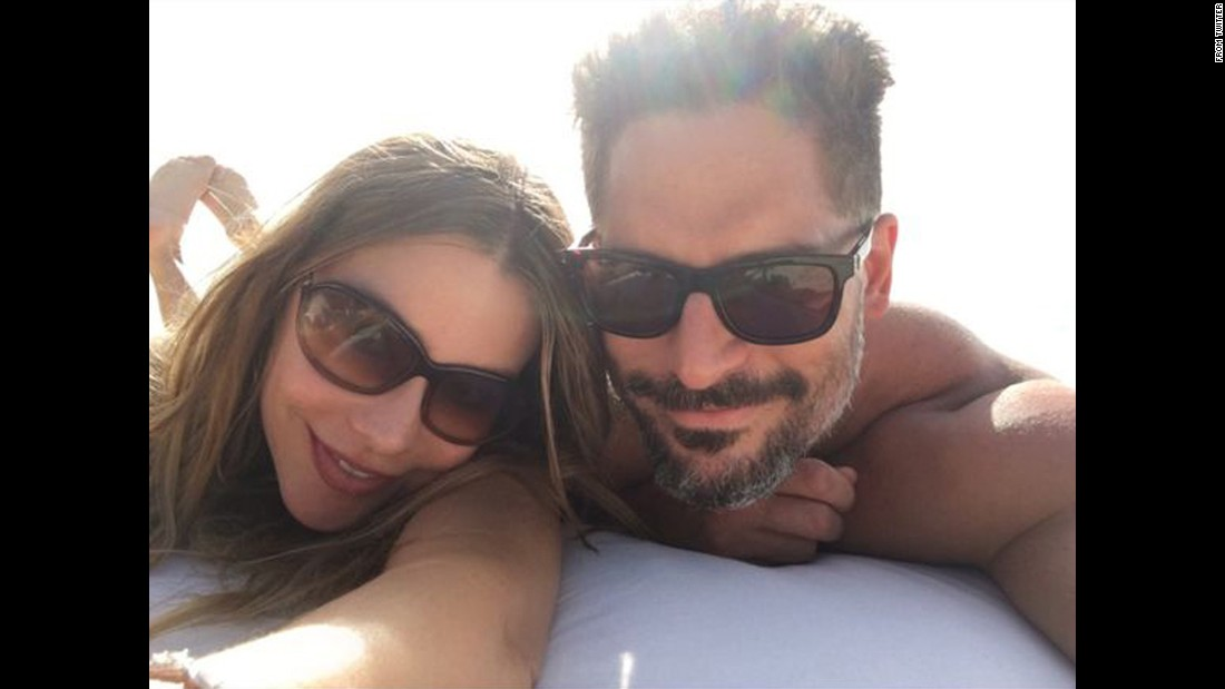 "Actor Joe Manganiello <a href=""https://twitter.com/JoeManganiello/status/671467576975745024"" target=""_blank"">tweeted a selfie</a> with his wife, actress Sofia Vergara, during their honeymoon in the Caribbean on Monday, November 30. ""I cannot thank ‪@RealRobertEarl enough for the best vacation of my life! #ParrotCay!"" he said."