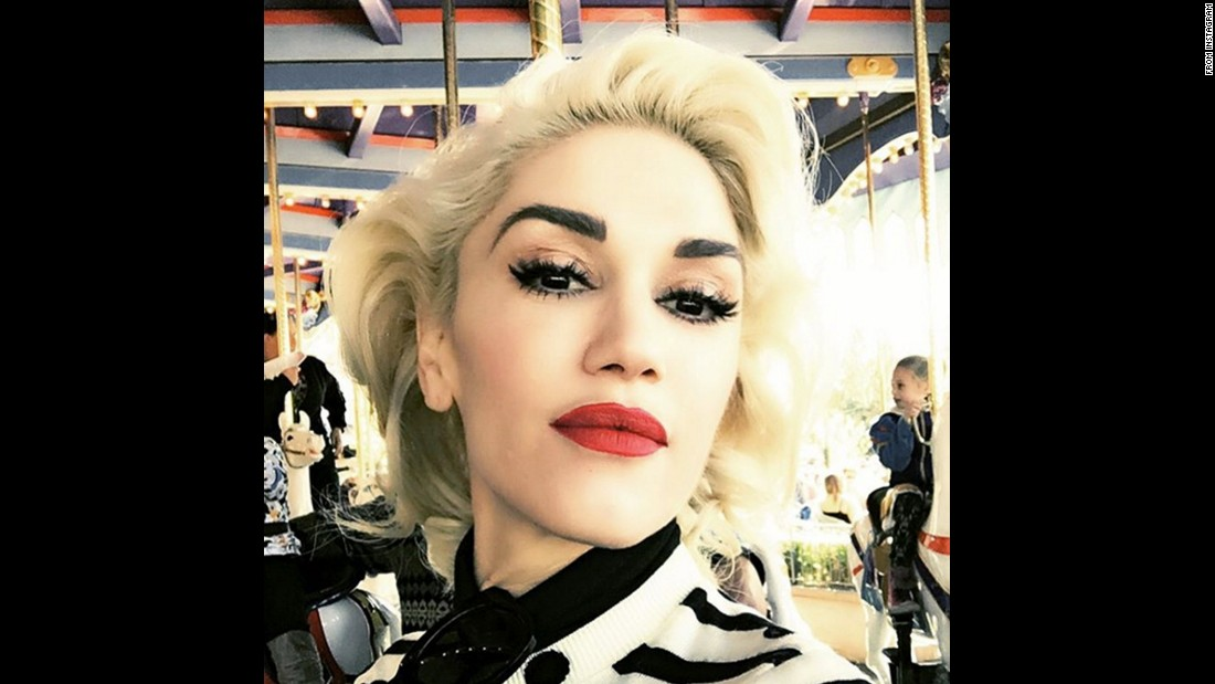 "Singer Gwen Stefani <a href=""https://www.instagram.com/p/-mc2TXuLeI/"" target=""_blank"">takes a selfie</a> in Disneyland on Friday, November 27."