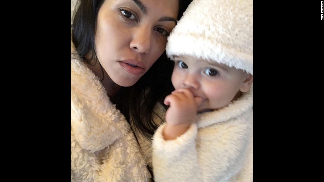 "Television personality Kourtney Kardashian takes a selfie with her youngest son, Reign, on Thursday, November 26. ""First Thanksgiving,"" <a href=""https://www.instagram.com/p/-kzDAtk1pR/"" target=""_blank"">Kardashian said on Instagram.</a>"