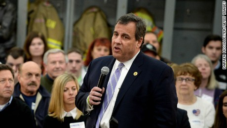 Republican Presidential candidate Chris Christie speaks during a town hall meeting at the Louden Fire Department November 30, 2015 in Loudon, New Hampshire.