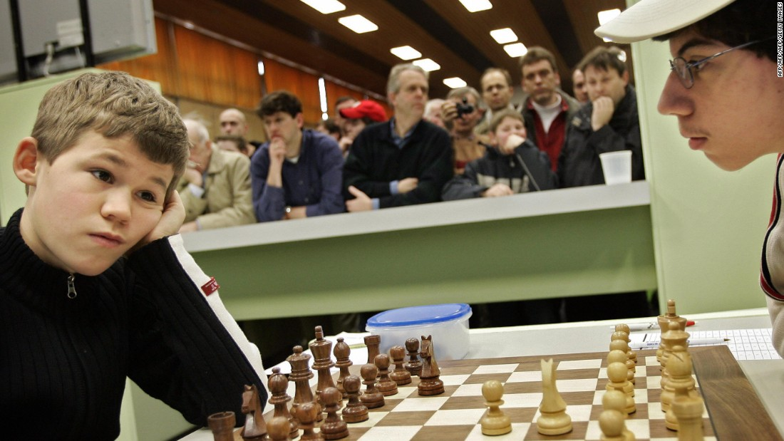 The Norwegian chess prodigy was 13 years old when he became an international grandmaster -- the youngest at the time. <br />