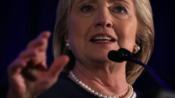 Democratic presidential candidate Hillary Clinton speaks during a 'Women for Hillary' fundraiser November 30, 2015 in Washington, DC. All 14 Democratic women senators, except Sen. Elizabeth Warren (D-MA) have endorsed Hillary Clinton to run for the President of the U.S.
