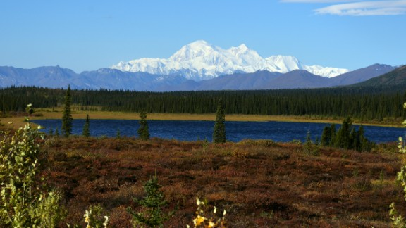 DENALI NATIONAL PARK, AK - SEPTEMBER 1: A view of Denali, formerly known as Mt. McKinley, on September 1, 2015 in Denali National Park, Alaska. According to the National Park Service, the summit elevation of Denali is 20,320 feet and is the highest mountain peak in North America. (Photo by Lance King/Getty Images)