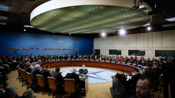 NATO foreign ministers gather to formally admit Montenegro during ministerial meetings at the NATO Headquarters in Brussels on December 2, 2015.