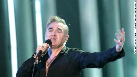 Singer Morrissey performs in 2013 during the Nobel Peace Prize concert in Oslo, Norway.