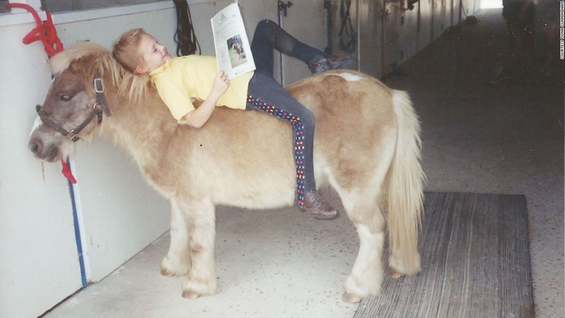 Sarah struggled to make friends because other students teased her about her medical issues. She would come home and read stories to her pony, Georgie Porgy, because he never made her feel different or judged.