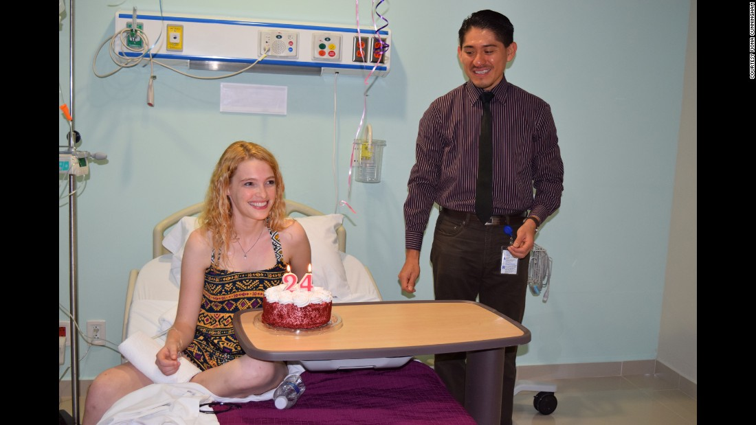 Sarah celebrated her 24th birthday with a smile -- and received a stem cell treatment on the same day.