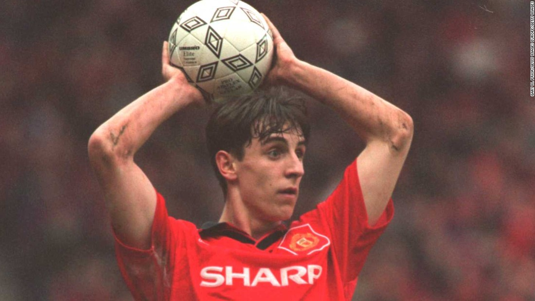 Neville had a long and illustrious playing career at Manchester United. He won 17 major honors in his 20 years at the club after making his debut for the senior side in 1992.