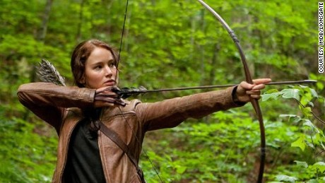 "Modern day warrior woman: Jennifer Lawrence in ""The Hunger Games."""