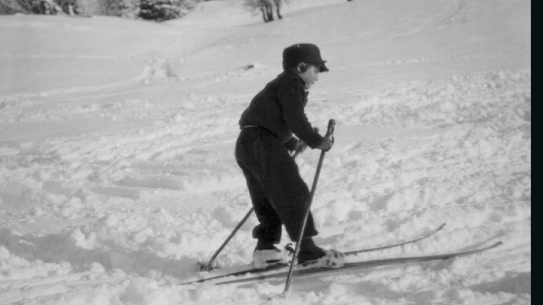 Obermeyer began skiing at an early age, this picture taken in 1922 when he was aged just three. He moved to Colorado before he was 30.