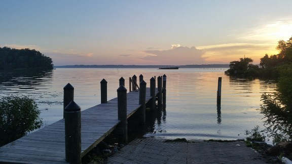 Mallows Bay, a 14-square-mile site, lies in the Potomac River, 30 miles south of U.S. capital Washington D.C.