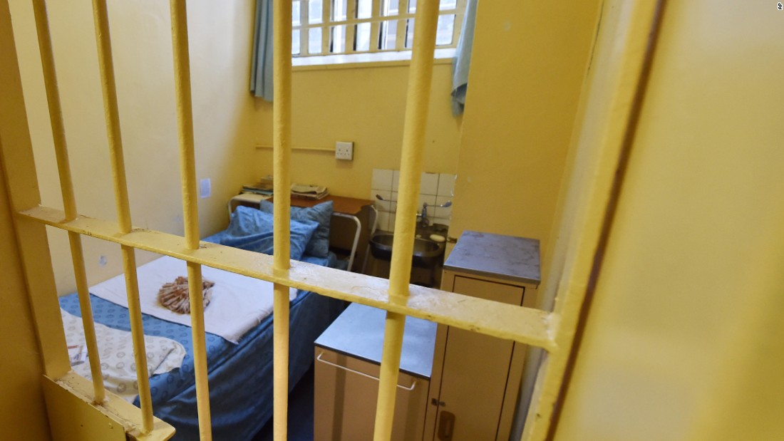 The cell in the Kgosi Mampuru II Prison in Pretoria, South Africa where Oscar Pistorius stayed for a year for killing girlfriend Reeva Steenkamp.
