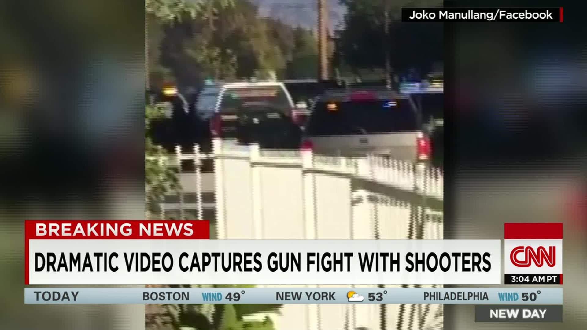 Dramatic video shows San Bernardino shootout - CNN Video