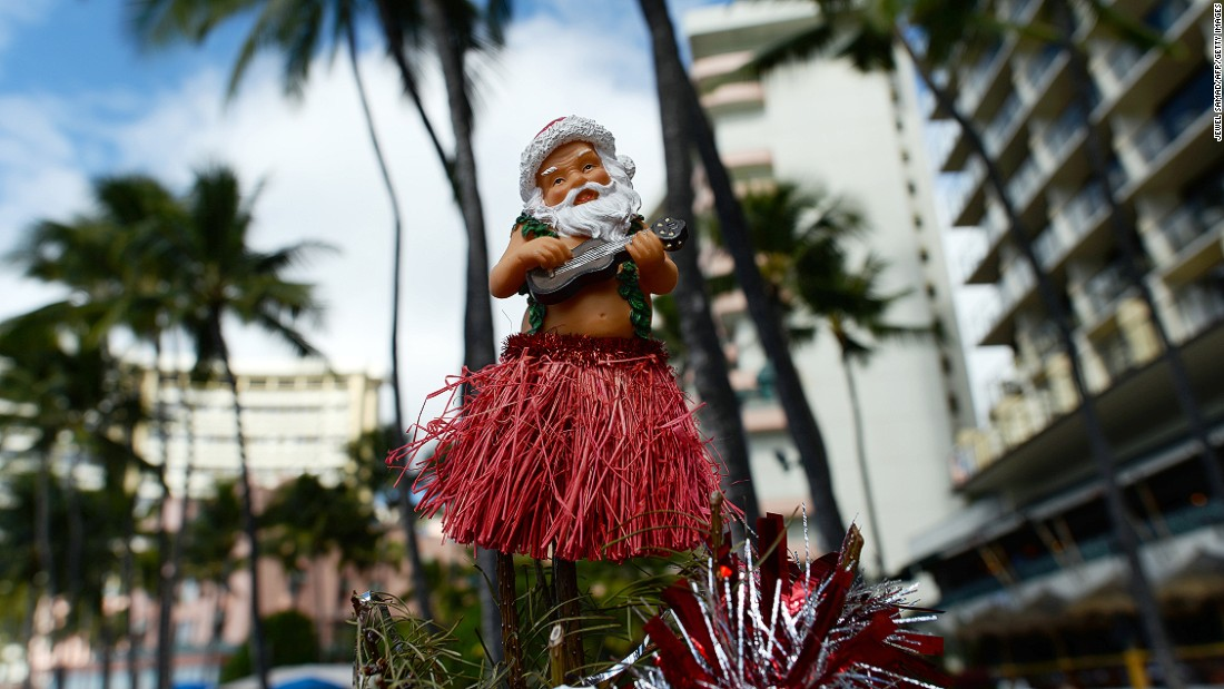 "<strong>Honolulu, Hawaii:</strong> ""Mele Kalikimaka"" is the Hawaiian Christmas greeting made famous by Bing Crosby's hit song of 1950. What the Aloha State lacks in snow it more than makes up for with festive vibes of peace and goodwill."