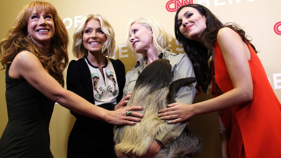 """How is this for """"squad goals?"""" Snooki and her trainer, Marcella Leone, Founder and Director of the <a href=""""http://www.leozoo.org"""" target=""""_blank"""" target=""""_blank"""">LEO Zoological Conservation Center</a>, with, from left, Kathy Griffin, Kelly Ripa and Victoria Justice."""