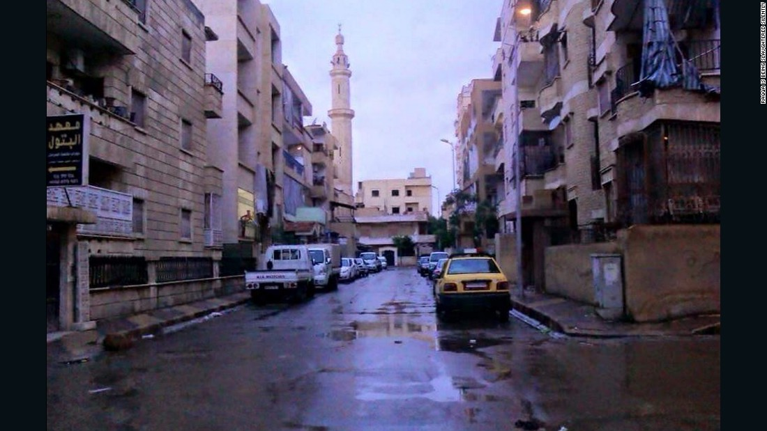 The streets of Raqqa before it was under ISIS control, in an undated photo provided to CNN by RBSS.