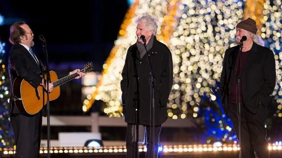 Crosby, Stills & Nash perform at the National Christmas Tree lighting ceremony.