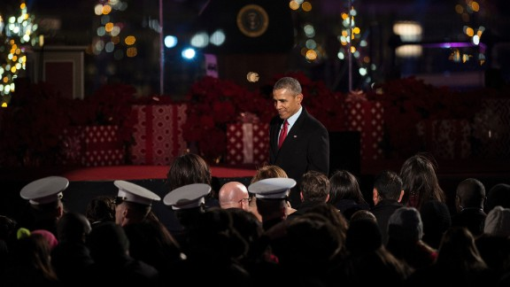 Obama leaves the event.