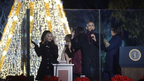 Witherspoon and the first family at the annual event.