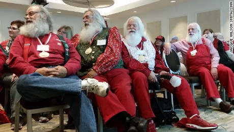 Attendees at the Charles W. Howard Santa Claus School gather for the first day of class.