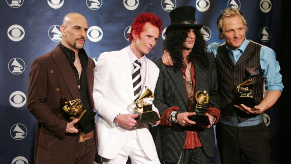 "Weiland's next project was the supergroup Velvet Revolver, which included, from left, Dave Kushner, Weiland, Slash and Matt Sorum. The group won best rock song at the 2005 Grammys. It was Weiland's second Grammy; the first was in 1994 for the Stone Temple Pilots song ""Push."""