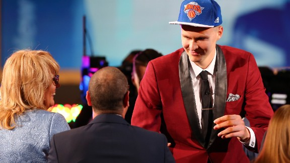 Porzingis was the fourth pick in the 2015 NBA draft after playing in Spain for several years.
