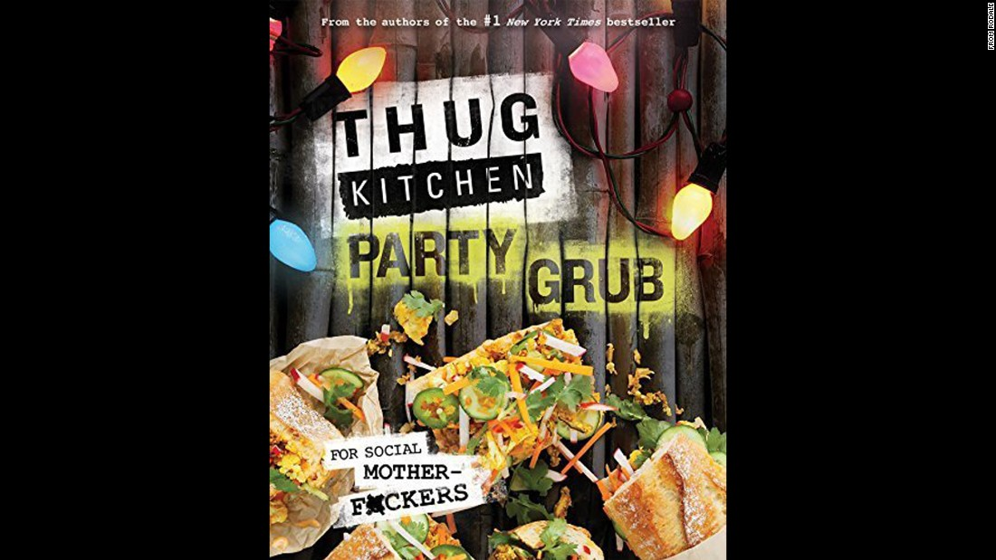 "After their first book became a hit last year, ""Thug Kitchen"" creators Matt Holloway and Michelle Davis decided to follow up with ""Thug Kitchen Party Grub: For Social Motherf*ckers."" It's fun, it's vegan, and yes, there's cursing."