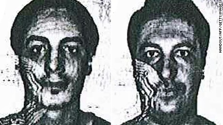 Belgian authorities on Friday said they are looking for two unidentified men -- using the false names of Soufiane Kayal, left, and Samir Bouzid -- in connection with the investigation into the November 13 terrorist attacks in Paris. Authorities say they believe the two were at the Austria-Hungary border with suspected ringleader Salah Abdeslam in September, weeks before the killings.