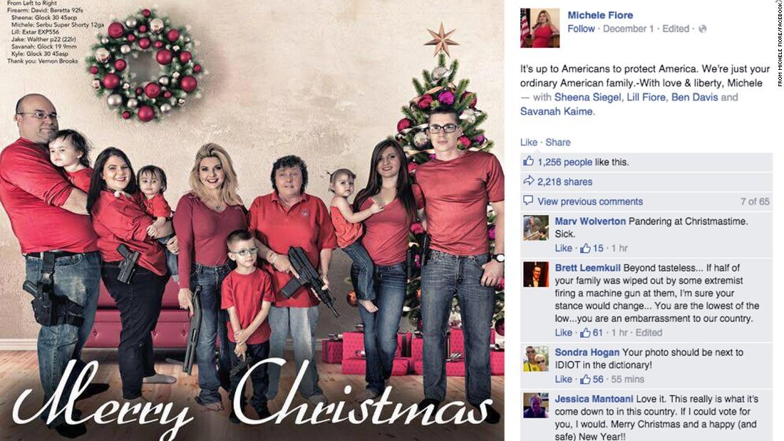 Nevada politician says Merry Christmas -- with guns - CNN