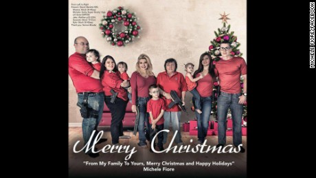 Politician Michele Fiore posted this Christmas card showing armed family members.