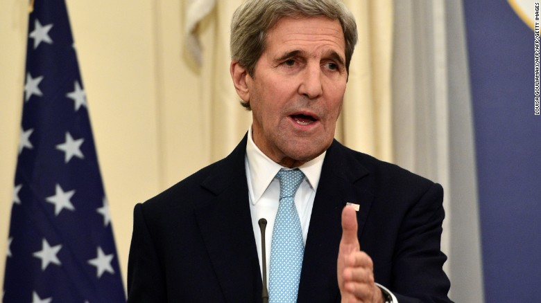 John Kerry talks dealing with Iran, Bob Levinson