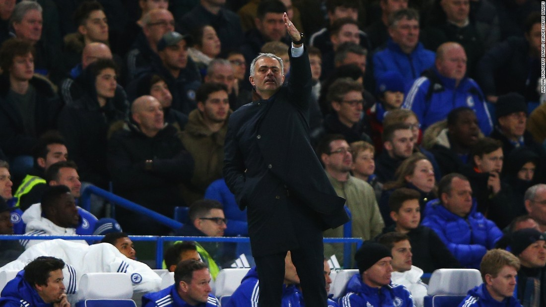 Jose Mourinho cut a frustrated figure as his team crashed to an eighth league defeat.