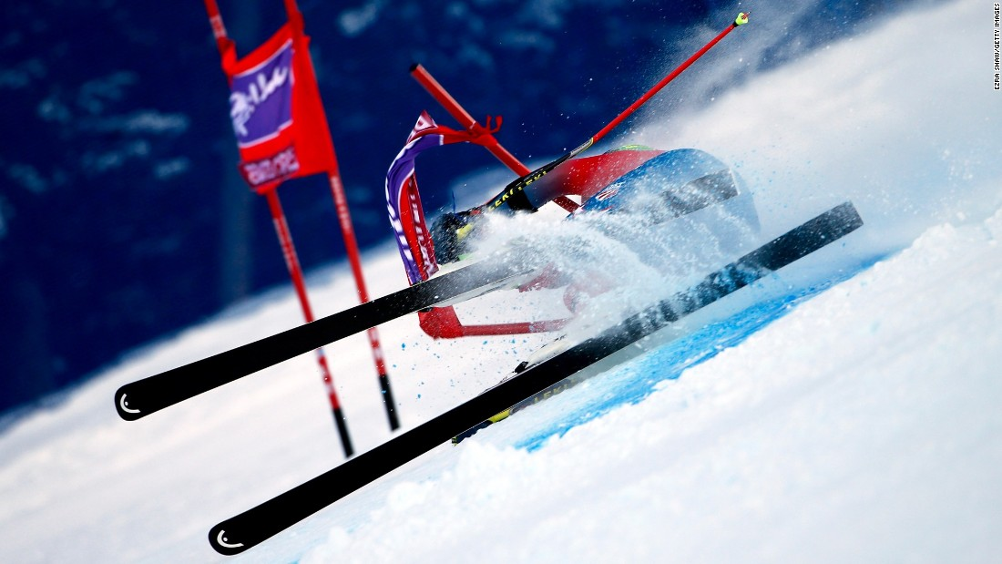This is how Ted Ligety's attempt to win the Beaver Creek World Cup giant slalom ended on Sunday.